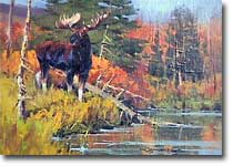 October Morning Moose